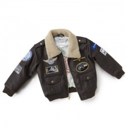 Boeing Brown Aviator Jacket – Youth