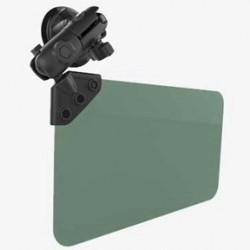 RAM® Twist-Lock™ Suction Cup Mount with Swivel Socket Arm & Sun Visor
