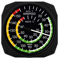 """Trintec 10"""" Classic Airspeed Thermometer"""
