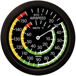 "Trintec 14"" Classic Airspeed Thermometer"