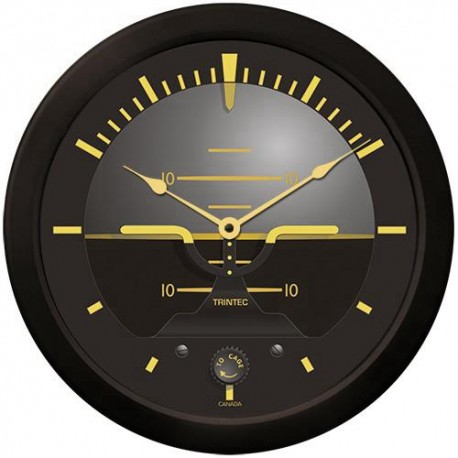 "Trintec 14"" Vintage Artificial Horizon Clock"