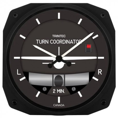 "Trintec 10"" Turn & Bank Clock"
