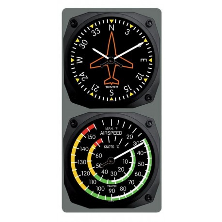 Trintec Clock & Thermometer Set Gyro/Airspeed