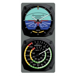 Trintec Clock & Thermometer Set Artificial Horizon/Airspeed