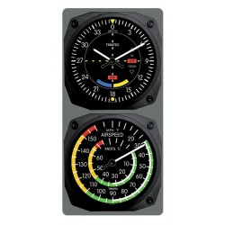 Trintec Clock & Thermometer Set VOR/Airspeed
